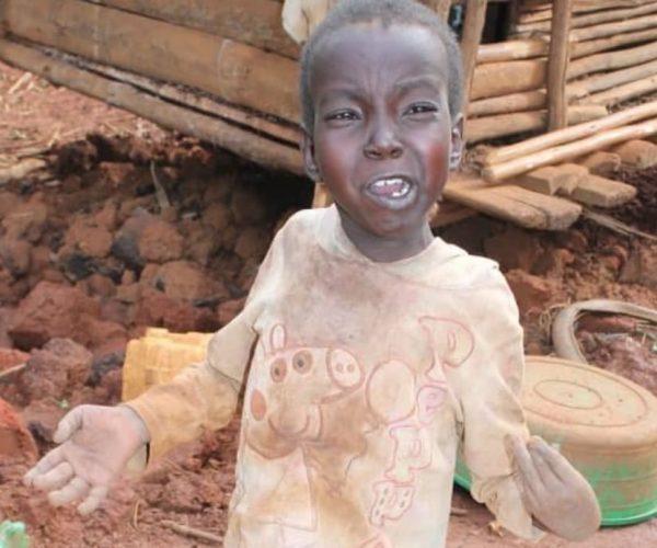 Junior 14 years from Kacuro village, Kyanamira subcounty.